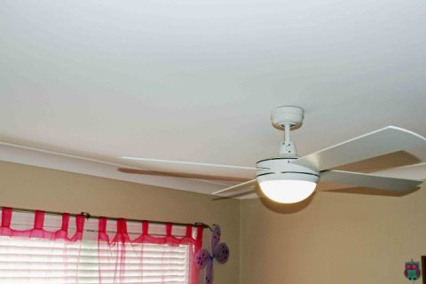 ceiling fan with light installed in Batemans Bay
