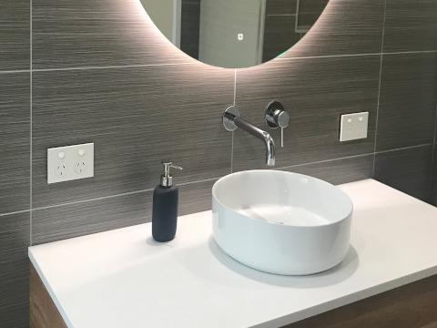 Powerpoints bathroom renovation